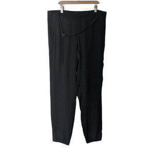 Helmut Lang Tapered Leather Strap Trouser Pants